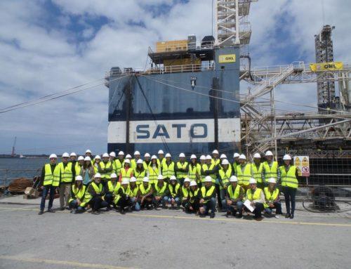 Visita Técnica organizada por el CJP a la obra de ampliación del Espigón Central del Puerto de Bilbao